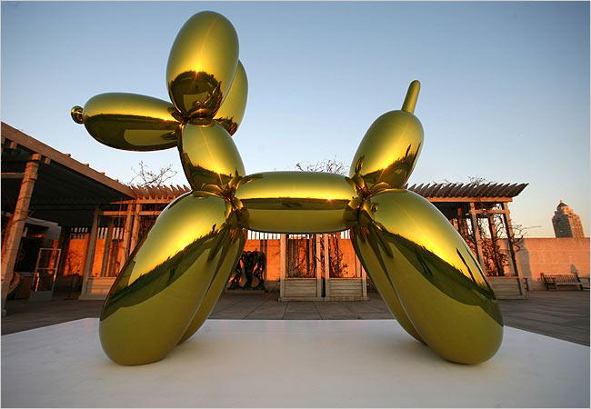 Jeff Koons Ball... Jeff Koons Balloon Sculpture